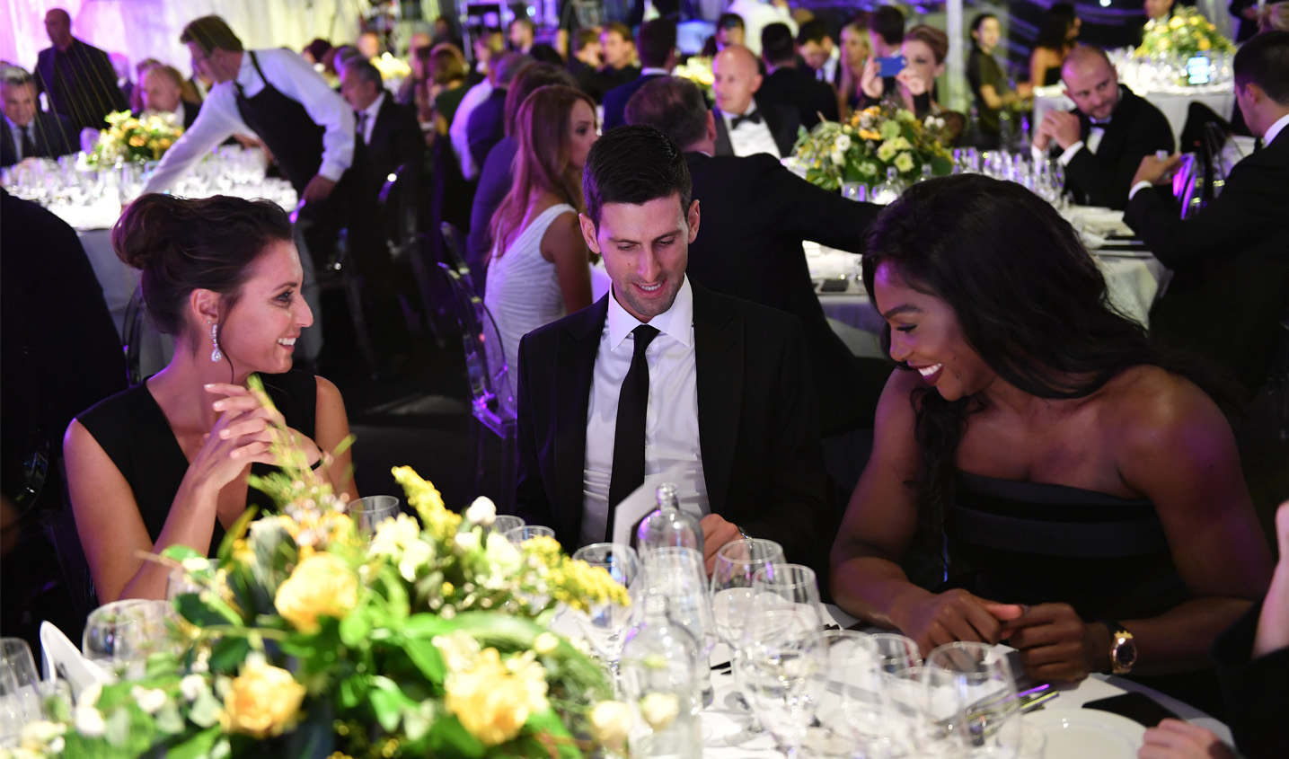 Flavia Pennetta, Novak Djokovic and Serena Williams